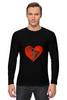 """Лонгслив """"Любовь """" - сердце, любовь, heart, patched heart"""