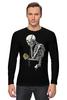 """Лонгслив """"Скелет с плеером"""" - skull, череп, скелет, кости"""