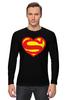 "Лонгслив ""Я люблю Супермена"" - супермен, комиксы, superman, супергерои"