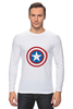 "Лонгслив ""Marvel"" - комиксы, супергерой, marvel, марвел, капитан америка, captain america"