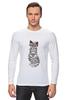 """Лонгслив """"Мяу мяу мяу"""" - кот, кошка, очки, хипстер, мяу"""