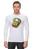 "Лонгслив ""Одна Жизнь (Марио)"" - mario, mushroom, марио, грибочек, сэндвич"
