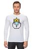 "Лонгслив ""  Ice King"" - adventure time, время приключений, пиксельная графика, ice king"