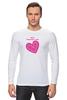 """Лонгслив """"""""LOVE"""""""" - праздник, день святого валентина, 14-февраля, розовое сердце"""