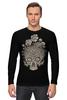 """Лонгслив """"Цветочный череп"""" - skull, череп, цветы"""