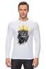 """Лонгслив """"Король Лев"""" - животные, корона, лев, lion, царь зверей"""