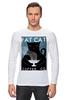 """Лонгслив """"Fat Cat"""" - любовь, кот, кошка, кофе"""