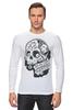 """Лонгслив """"День Мертвых в Мексике"""" - авторские майки, черепа, mexico, day of the dead, november 1st"""