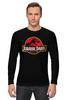"Лонгслив ""Jurassic Park / Парк Юрского Периода"" - динозавры, афиша, парк юрского периода, jurassic park, kinoart"