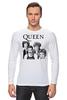 "Лонгслив ""Queen group"" - queen, фредди меркьюри, freddie mercury, куин, rock music"