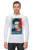 "Лонгслив ""Герой (Эдвард Сноуден)"" - obey, hero, edward snowden, эдвард сноуден"