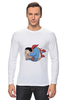 "Лонгслив ""Fat Superman"" - супермен, superman, обжорство"