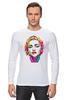 """Лонгслив """"Мадонна (Madonna)"""" - madonna, мадонна, полигоны, polygons"""