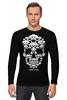 "Лонгслив ""GAME OVER"" - skull, череп, игры, space invader, захватчик"