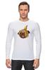 "Лонгслив ""Мопс и банановая кожура"" - pug, пёс, банан, мопс, банановая кожура"