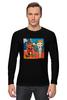 """Лонгслив """"Basquiat / Баския"""" - граффити, корона, snoopy, basquiat, уличный стиль"""