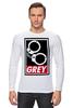 """Лонгслив """"50 оттенков серого (Fifty Shades of Grey)"""" - sex, бдсм, obey, наручники, 50 оттенков серого"""
