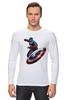 "Лонгслив ""Капитан Америка / Captain America"" - мстители, капитан америка, captain america, kinoart, киноарт"