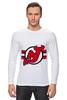 """Лонгслив """"New Jersey Devils"""" - хоккей, nhl, нхл, нью-джерси девилс, new jersey devils"""