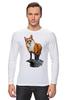 """Лонгслив """"Лисица"""" - животные, red, рисунок, fox, лиса, рыжая"""