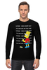 "Лонгслив ""Bart Simpson & Chalkboard"" - симпсоны, the simpsons, bart simpson, барт симпсон"