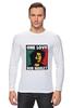 """Лонгслив """"Bob Marley """" - любовь, регги, боб марли, reggae, ska, jamaica"""