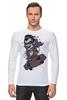 """Лонгслив """"Дракула на Скейте"""" - skate, dracula"""
