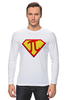 """Лонгслив """"Супер Пи (Super Pi)"""" - математика, 14 марта, число пи, день числа пи"""