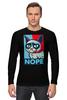 """Лонгслив """"Угрюмый Кот"""" - мем, постер, grumpy cat, nope, угрюмый кот"""