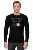 """Лонгслив """"Чёрная кошка"""" - кот, кошка, пузырь, black cat, жвачка"""