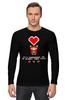 "Лонгслив ""Возьми мое Сердце! (8-бит)"" - сердце, heart, пиксель арт, 8-bit, pixel-art"