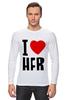 "Лонгслив ""I LOVE HER"" - сердце, любовь, heart, i love"