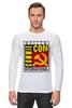 "Лонгслив ""Moscow Commie Con"" - ссср, пародия, коммунизм, серп и молот, comic con"