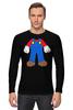 "Лонгслив ""Костюм Марио"" - nintendo, марио, mario bros, супербратья марио"