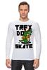 """Лонгслив """"Динозавр на Скейте"""" - скейтборд, skate, dino, динозавр"""