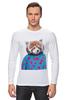 "Лонгслив ""Красная панда"" - арт, red, девушке, panda, animal, красная панда, dressed"