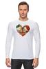 """Лонгслив """"Skull Art"""" - skull, сердце, цветы, череп, heart"""