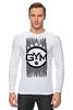 "Лонгслив ""!!! GYM !!!"" - бодибилдинг, gym, звёзды, сила, спортзал"