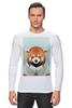"""Лонгслив """"Деловая панда"""" - стиль, панда, red panda, деловая, выдра"""