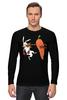 "Лонгслив ""Нокаут"" - спорт, бокс, кролик, морковь, нокаут"