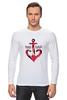 """Лонгслив """"Красный якорь"""" - море, якорь, anchor, sailor"""