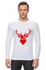 "Лонгслив ""Ho Ho Ho..."" - christmas, deer, reindeer"