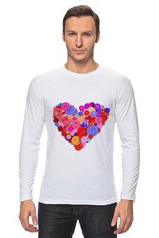 """Лонгслив """"День всех влюбленных"""" - любовь, день святого валентина, валентинка, i love you, день влюбленных"""