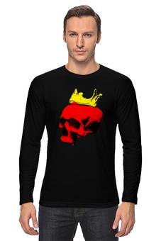 """Лонгслив """"Череп короля"""" - череп, арт, корона, попарт"""