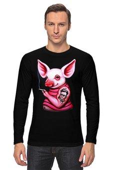 """Лонгслив """"Неформальная свинка"""" - свинка, свинья, хрюшка, поросёнок, хряк"""