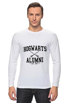 """Лонгслив """"hogwarts alumni"""" - harry potter, гарри поттер, выпускник хогвартс"""