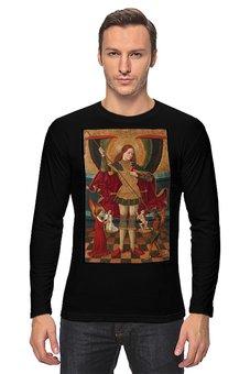 """Лонгслив """"Святой Михаил взвешивает души"""" - готика, картина, живопись, архангел, абадия"""