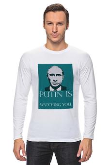 """Лонгслив """"Владимир Владимирович Путин 2"""" - арт, владимир, политика, путин, putin"""