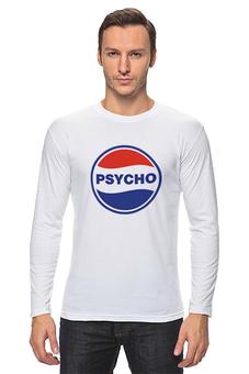 "Лонгслив ""PSYCHO"" - круг, psy, кола, pepsi, psycho"