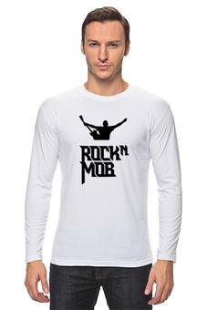"""Лонгслив """"Rocknmob (черные принты)"""" - rocknmob"""
